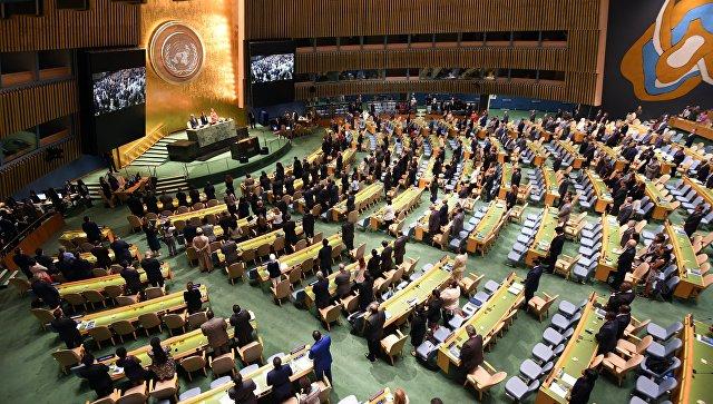 Генеральная Ассамблея Организации Объединенных Наций. Архивное фото