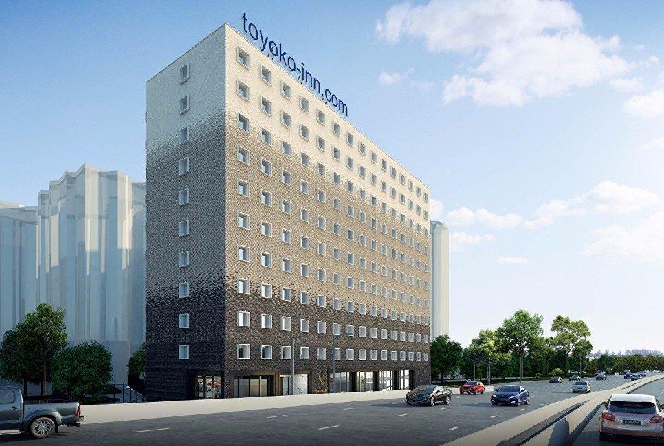 Проект гостиницы Toyoko Inn в 1-м Красносельском переулке в центре Москвы