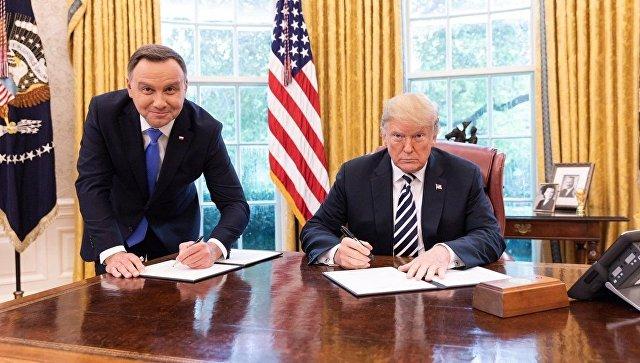 Встреча президентов США и Польши Дональда Трампа и Анджея Дуды