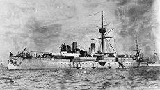 Броненосный крейсер типа Цзинъюань. Архивное фото