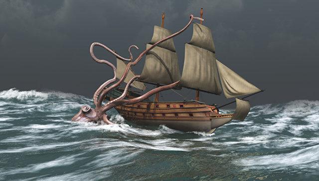 Нападение кракена на корабль