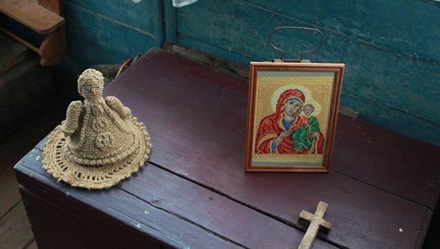 Интерьер избы XIX века в деревне Кубовская