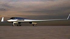 Эскиз перспективного авиационного комплекса дальней авиации (ПАК ДА, или Изделие 80). Архивное фото