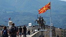 Памятник «Воин на коне» в Скопье, Македония. Архивное фото