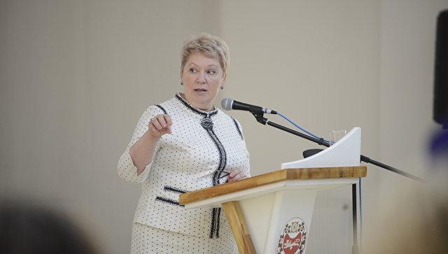 Министр просвещения России Ольга Васильева на встрече с учителями Республики Хакасия