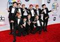 Участники группы NCT 127 на церемонии награждения American Music Awards в Лос-Анджелесе
