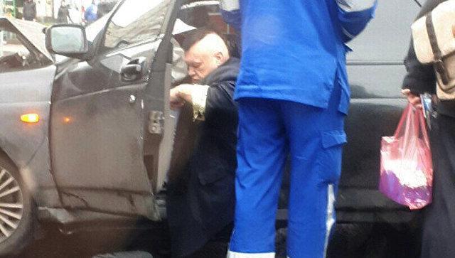 Щоумен Стас Барецкий во время ДТП в Санкт-Петербурге. 10 октября 2018