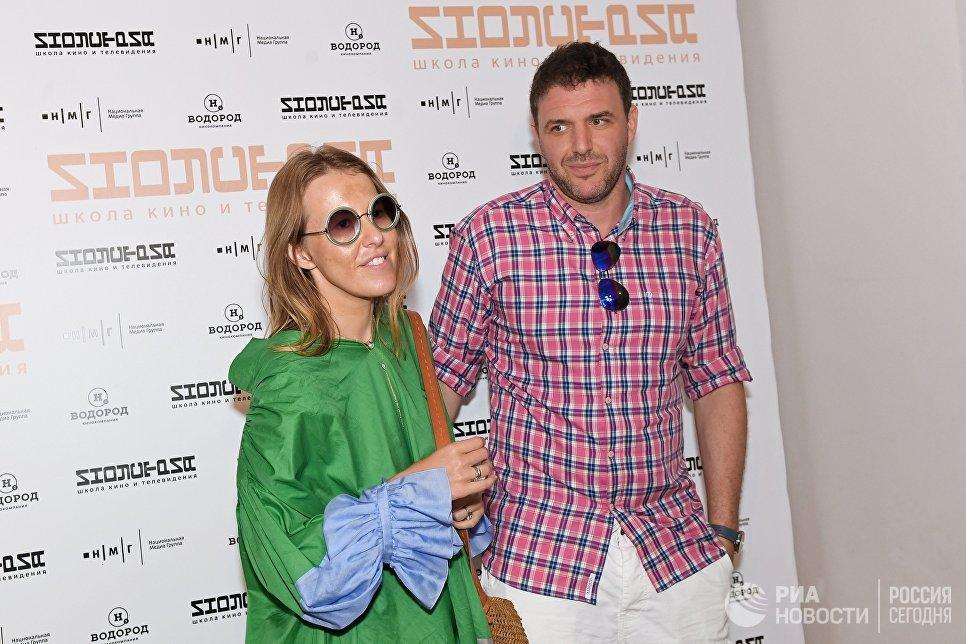 Актер Максим Виторган и его супруга телеведущая Ксения Собчак на 28-м Открытом Российском кинофестивале «Кинотавр» в Сочи.