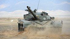 Танки Т-72 на командно-штабных учениях коллективных сил ОДКБ Взаимодействие-2018