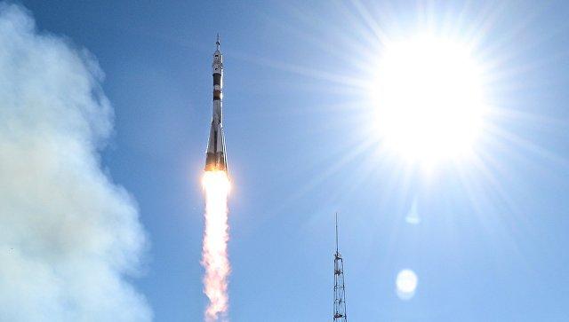 Старт ракеты-носителя Союз-ФГ с пилотируемым кораблем Союз МС-10. Архивное фото