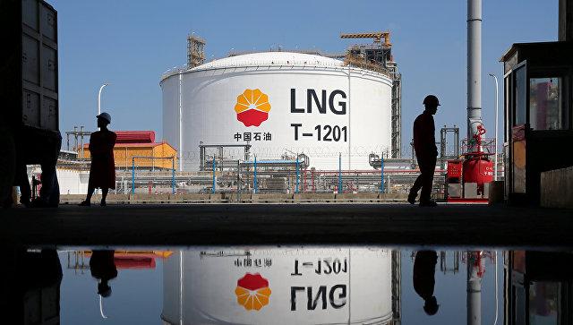 Резервуар для хранения СПГ в порту Рудонг, Китай