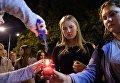 Жители Краснодара участвуют в акции памяти о погибших при нападении на керченский колледж