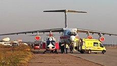 Пострадавших из Керчи доставили в аэропорт Раменское для дальнейшей эвакуации в больницы Москвы