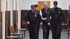 Бывший вице-премьер Крыма Виталий Нахлупин в Басманном суде Москвы. Архивное фото