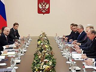 Секретарь Совета безопасности РФ Николай Патрушев и советник президента США по вопросам национальной безопасности Джон Болтон во время встречи в Москве. 22 октября 2018
