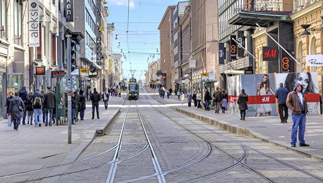 Торговая улица в Хельсинки