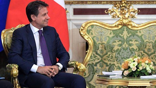 Премьер-министр Италии Джузеппе Конте во время встречи с президентом РФ Владимиром Путиным. 24 октября 2018