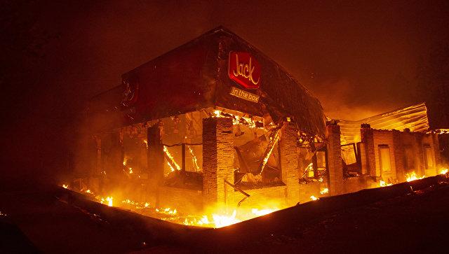 Пожар в городе Парадайс, Калифорния. 8 ноября 2018