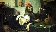 Репродукция картины Гуляки работы художника Яна Стена