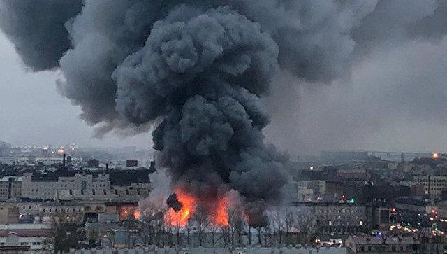 Пожар в гипермаркете Лента в Санкт-Петербурге. 10 ноября 2018