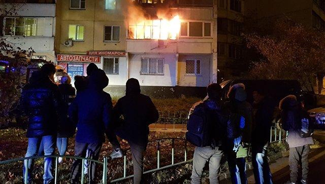 В Москве жителей дома, где произошел пожар, временно расселили в гостиницы