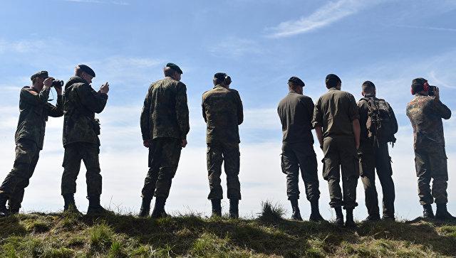 Солдаты Бундесвера во время учений в Германии