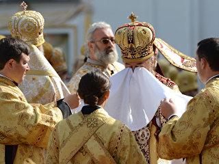 Священнослужители Украинской православной церкви. Архивное фото