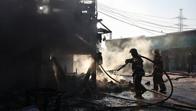 В Мытищах три человека погибли при пожаре в кафе