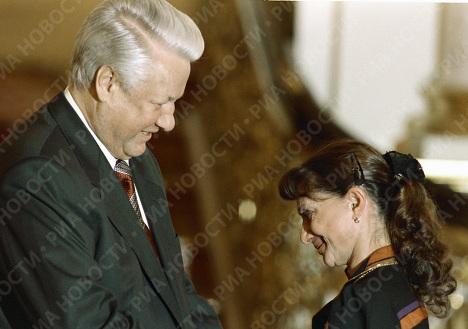 Борис Ельцин и Екатерина Максимова