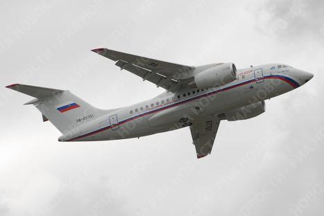 Демонстрация российско-украинского самолета Ан-148 прошла в Воронеже