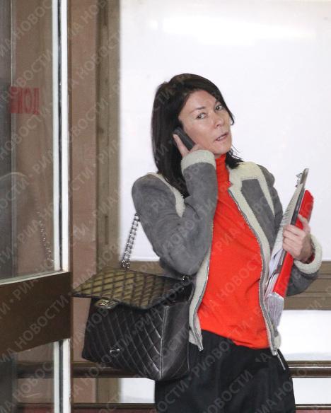 Президент фитнес-клубов World Class Ольга Слуцкер перед началом заседания Пресненского суда Москвы. Архив