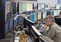 В центре управления Большим адронным коллайдером