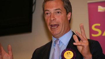 Британский политик Найджел Фарадж . Архивное фото