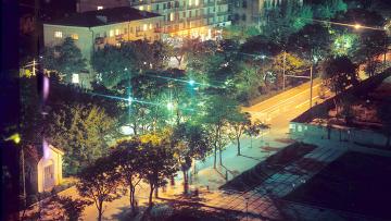 Вид на ночную Махачкалу. Архивное фото