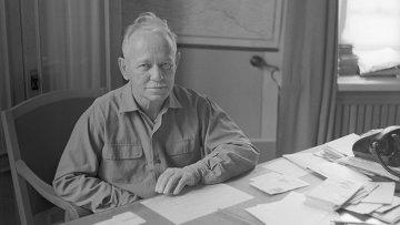 Писатель Михаил Александрович Шолохов. Архивное фото