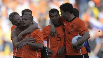 Футболисты сборной Нидерландов. Архивное фото