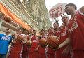 Мужская и женская сборные России по баскетболу