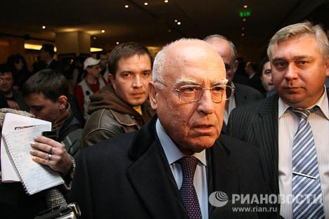 Посол РФ в Украине Виктор Черномырдин во время срыва демонстрации фильма Война 08.08.08 в отеле Хаят