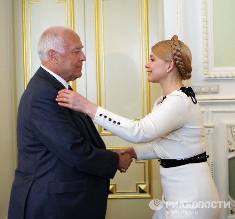 Встреча Виктора Черномырдина и Юлии Тимошенко