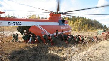 Российский многоцелевой тяжелый транспортный вертолёт Ми-26ТС. Архивное фото