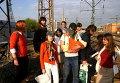"""Активисты группы """"Война"""" 6 мая 2008 года перед акцией """"Унижение мента в его доме"""""""