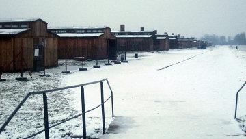 Бывший фашистский концлагерь Аушвиц-Биркенау в польском городе Освенцим. Архив
