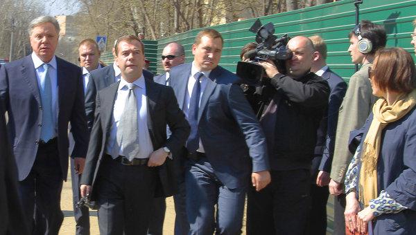 Дмитрий Медведев в Лыткарино