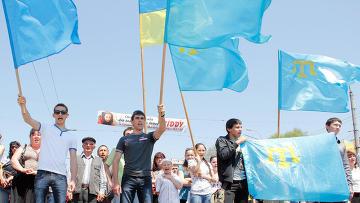 Митинг посвященный 67-летию депортации крымскотатарского народа в Среднюю Азию. Архивное фото