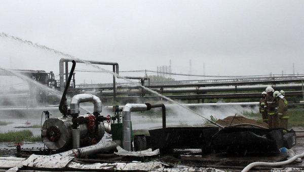 Пожар произошел на омском нефтезаводе