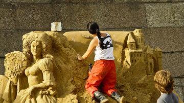 Фестиваль песчаных скульптур в Петропавловской крепости. Архив