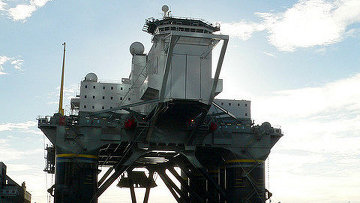 Платформа для запуска ракет в рамках программы Морской спорт в Тихом океане