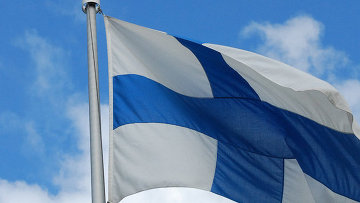 Финский флаг. Архивное фото