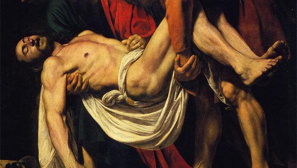Микеланджело да Караваджо Положение во гроб (фрагмент)