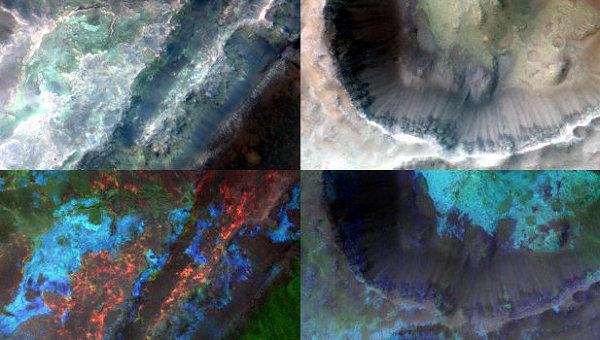 Следы глинистых минералов и эрозии на поверхности Марса